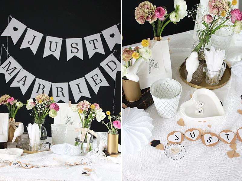 Vintage-Hochzeitsdeko