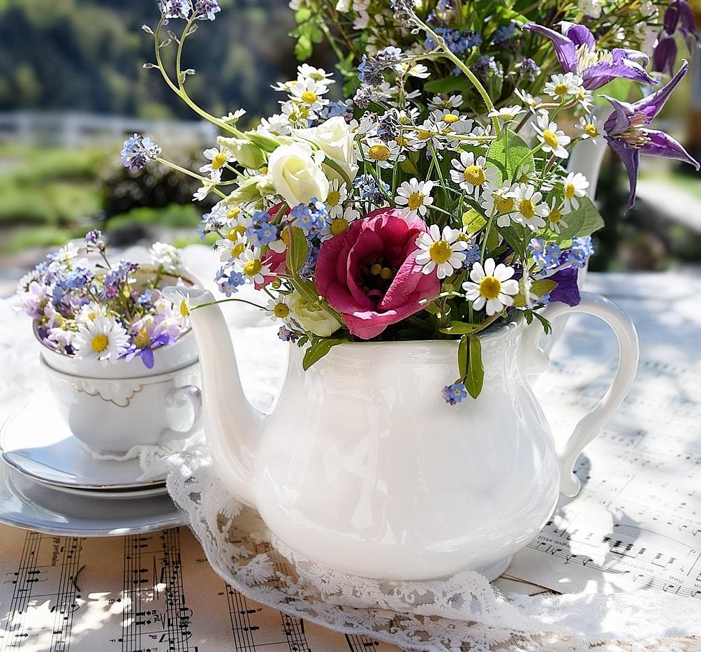 Romantische Blumensträuße