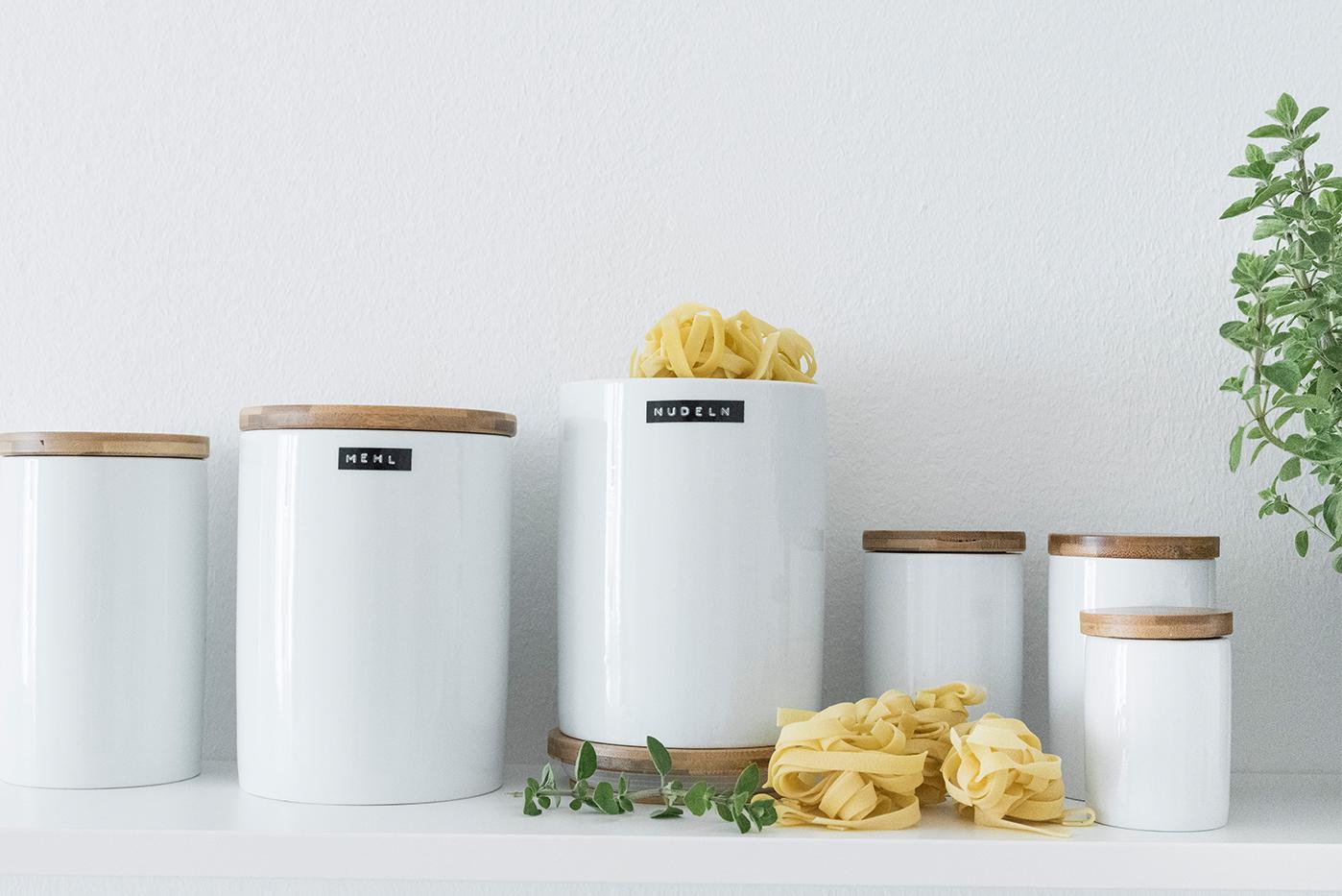 Vorratsbehälter für die Küche.