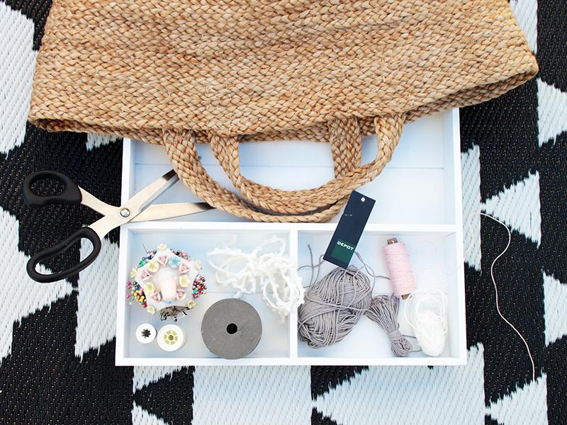 Material-DIY-Korbtasche