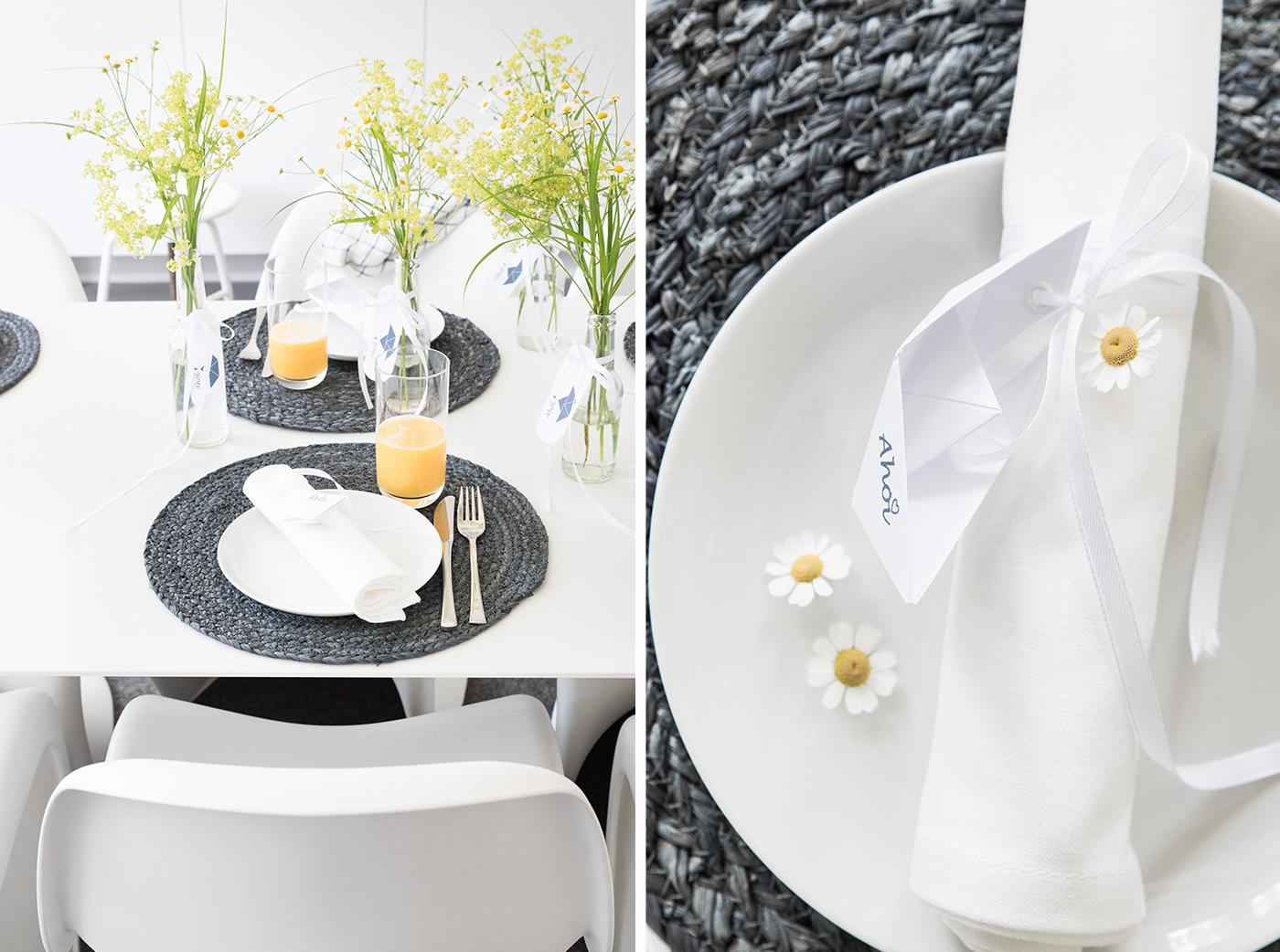 maritime tischdekoration sch n bei dir by depot. Black Bedroom Furniture Sets. Home Design Ideas