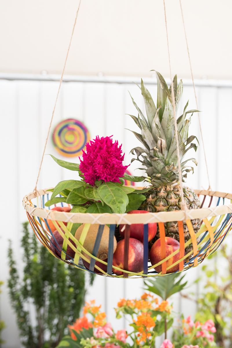 Dekoideen für den Balkon mit orientlischen Mustern und kräftigen Farben