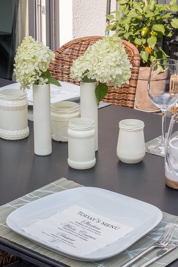 DIY Marmeladengläser als Teelichthalter