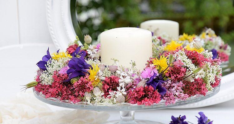 Sommerlicher Blumenkranz Tortenplatten Deko Schon Bei Dir By Depot