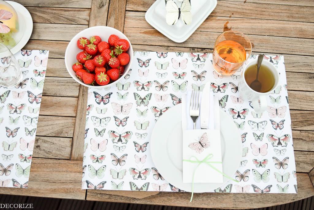 Sonntags Fruhstuck Sommer Tischdeko Aus Geschenkpapier Schon Bei