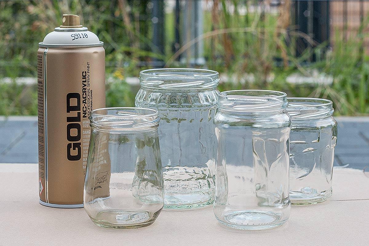 Zubehör DIY Marmeladengläser als Teelichthalter