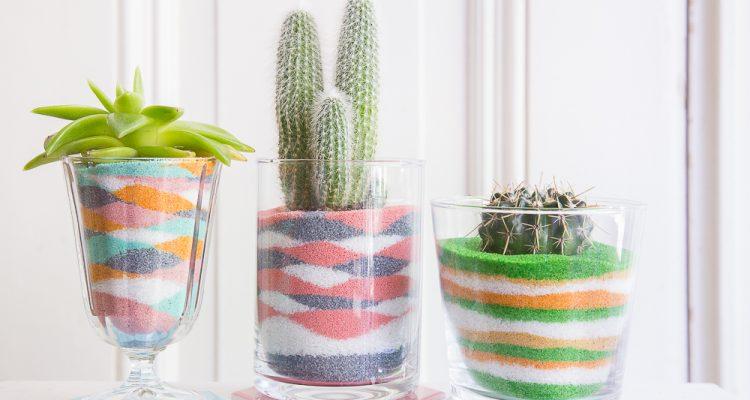 Deko-Sand selberfärben und dekorieren