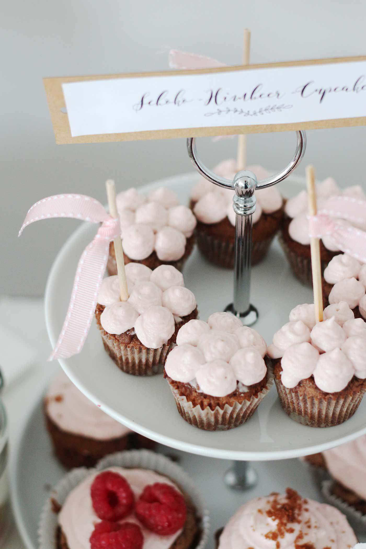 Schoko-Himbeer-Cupcakes