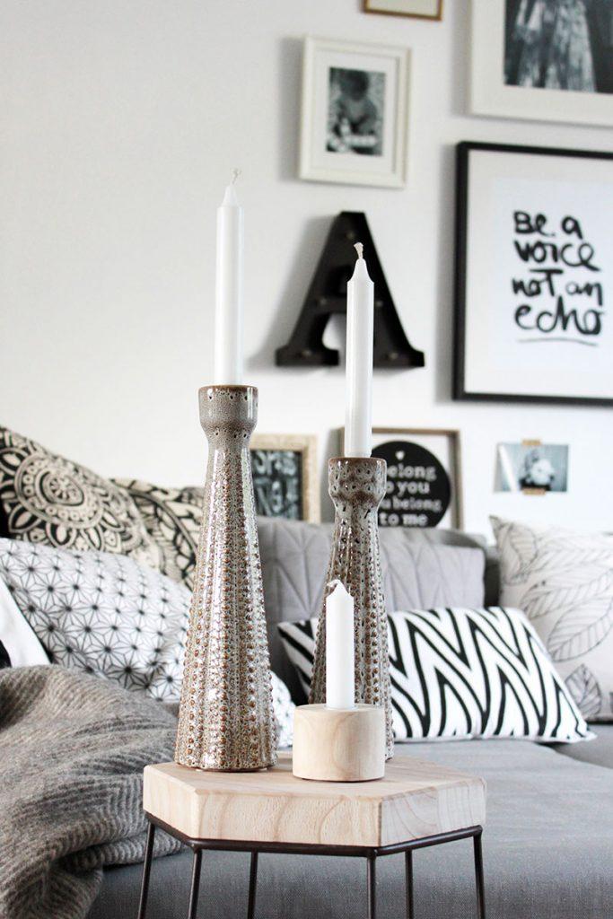 Moderner-Beistelltisch-schön-dekoriert