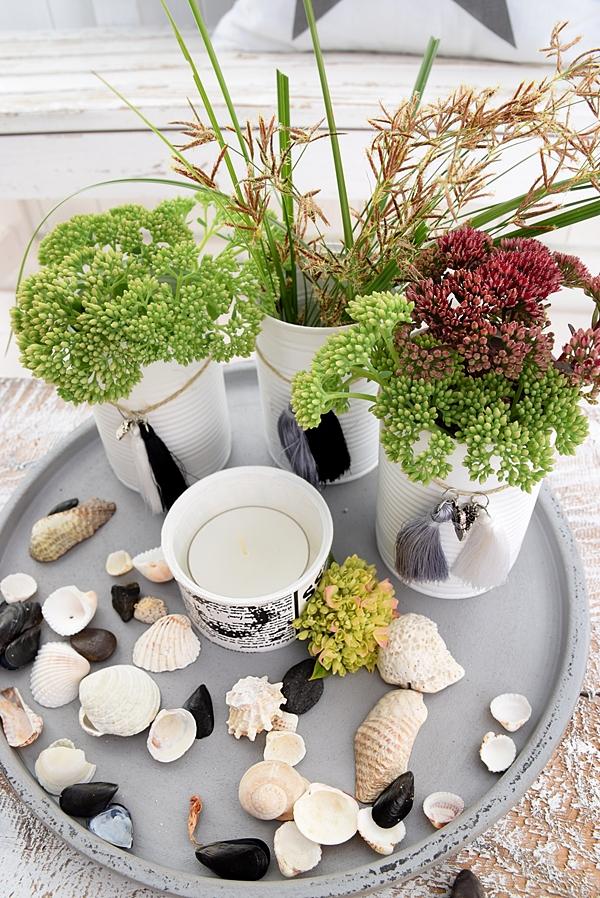 vasen aus dosen basteln und mit miniquasten von depot verzieren 13k sch n bei dir by depot. Black Bedroom Furniture Sets. Home Design Ideas