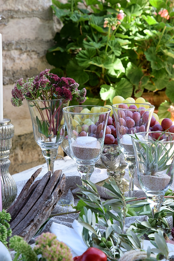 Blumendeko Herbst vintage tischdekoidee für den herbst schön bei dir by depot