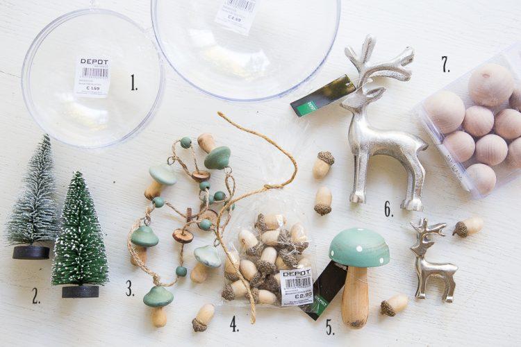 herbstlich-weihnachtlich dekoriert - Winterwelt im Glas.