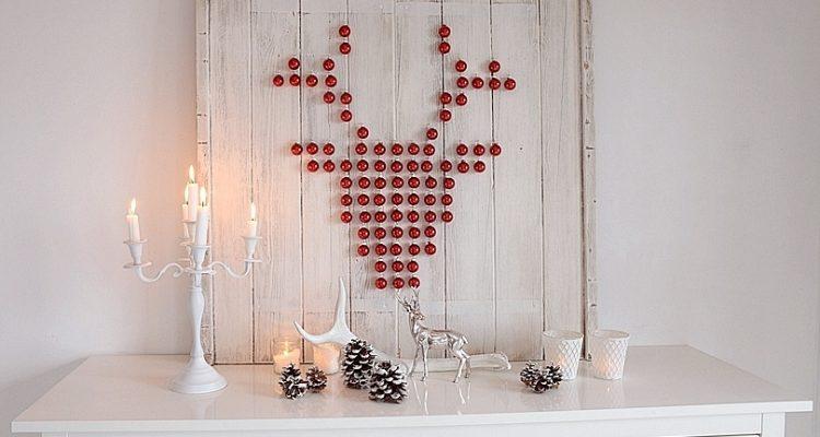 xmas diy ein hirsch aus weihnachtskugeln sch n bei dir. Black Bedroom Furniture Sets. Home Design Ideas