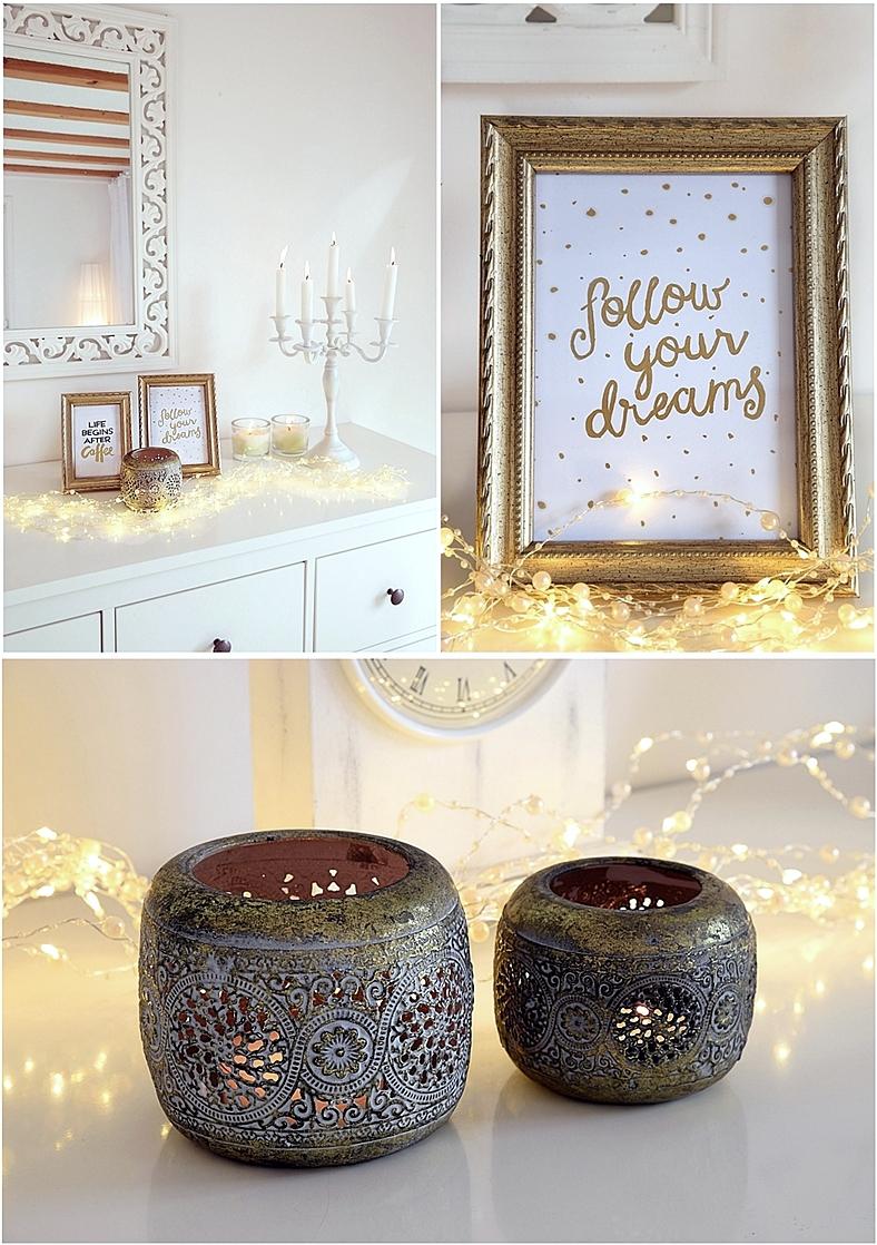 trendige deko in gold wei sch n bei dir by depot. Black Bedroom Furniture Sets. Home Design Ideas