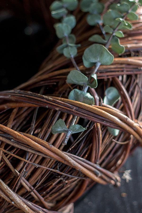 Türkranz mit Eukalyptus bestückt