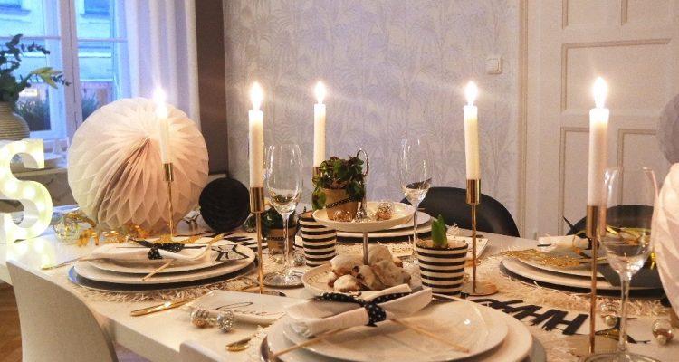 stylische silvestertischdeko von sweet living interior sch n bei dir by depot. Black Bedroom Furniture Sets. Home Design Ideas