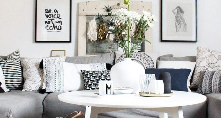Wohnzimmer Im Boho Style Mit Dekokörben Aus Seegras