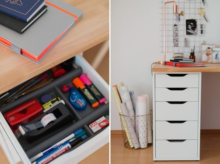 Diy Wand Organizer Fur Mehr Ordnung Am Schreibtisch