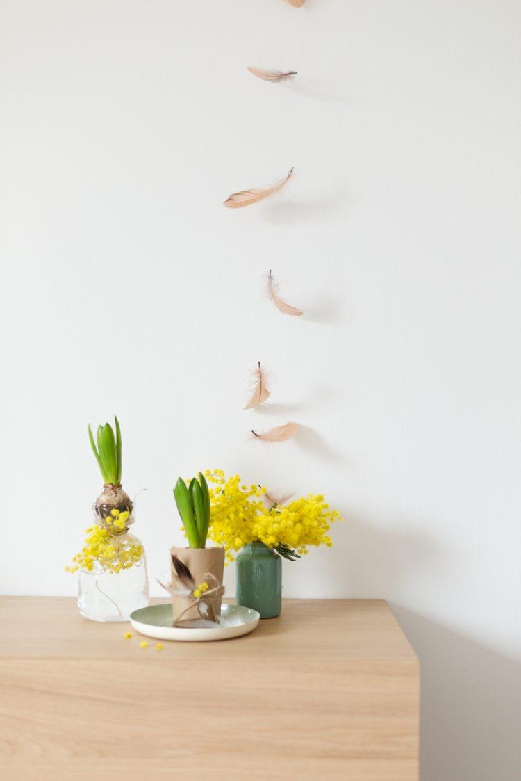 Dekoidee mit Blumenzwiebeln