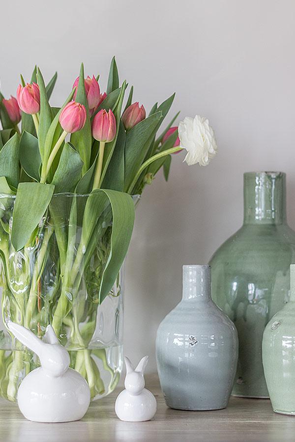 Osterdeko mit Vasen und Hasen von DEPOT