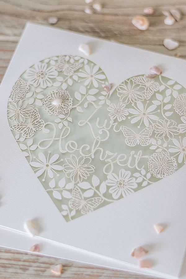 wunderschöne Hochzeitskarte von DEPOT