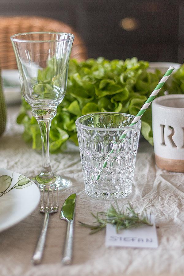 Greenery Tischdeko 2017 mit frischem Gemüse