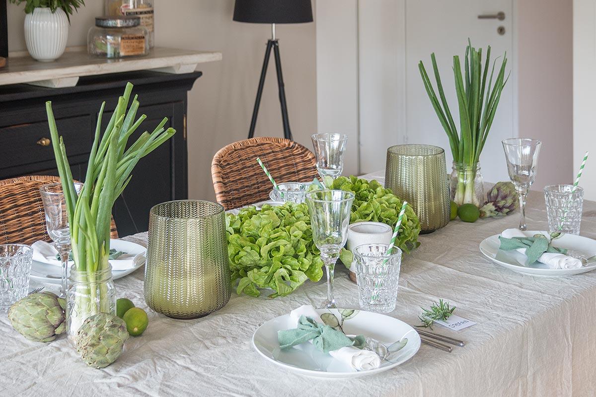 Trend Greenery Tischdeko Mit Gemuse Schon Bei Dir By Depot