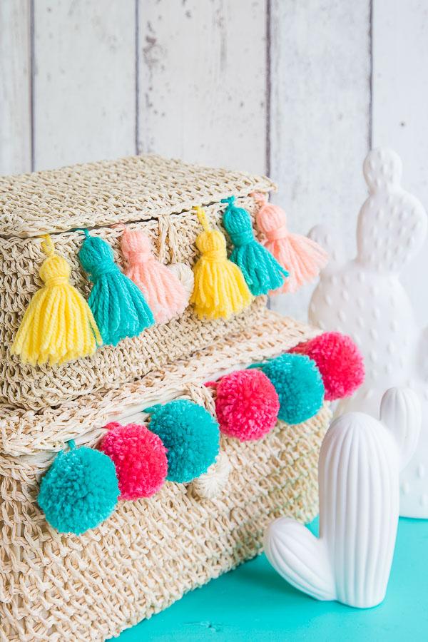 Summer Style - mit Pom Poms und Quasten dekorieren