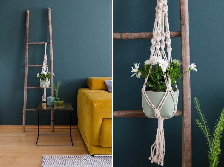 Trend Greenery: Deko mit Makramee & Pflanzen