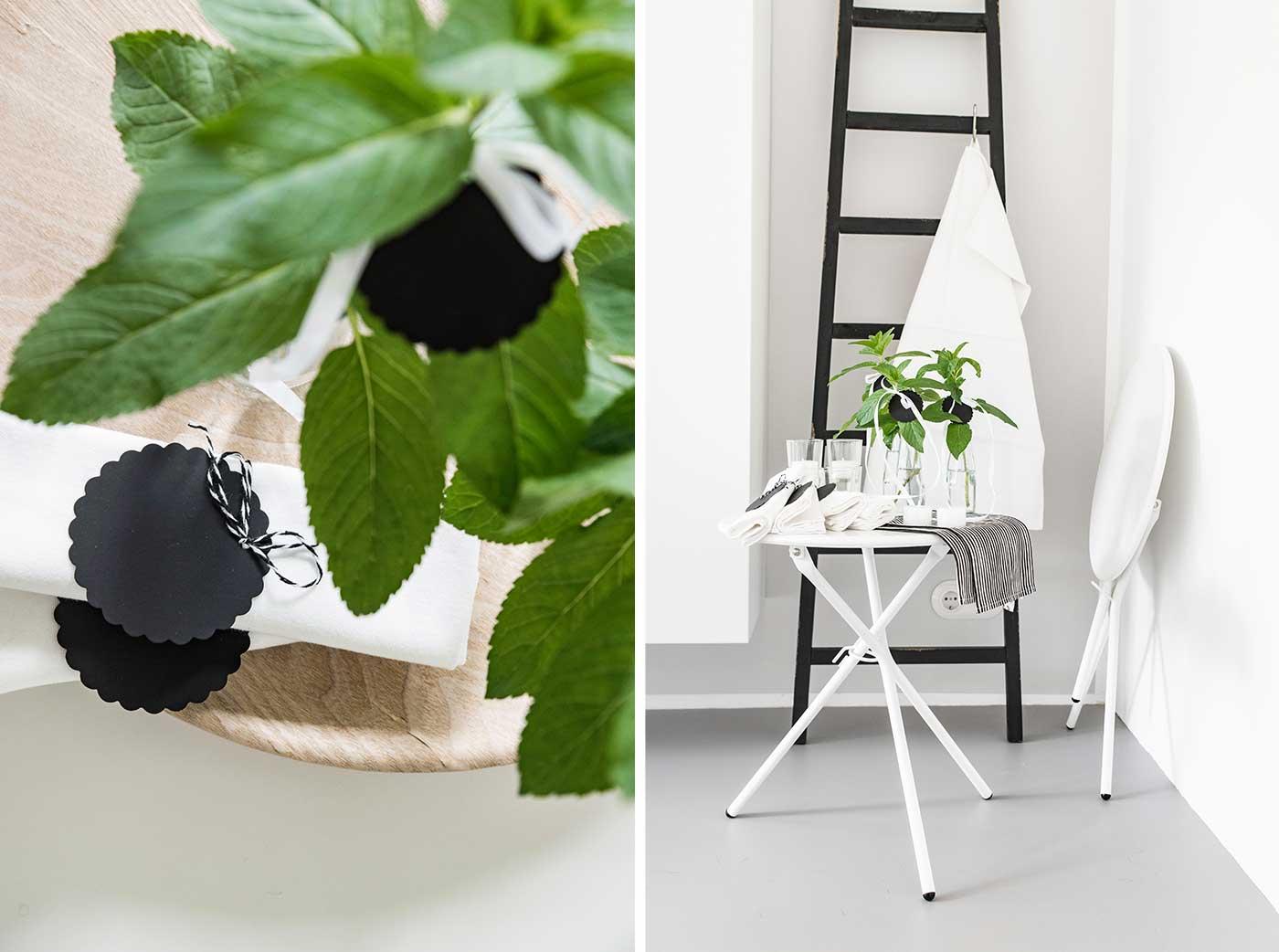 tischdeko f r ein mittsommerfest sch n bei dir by depot. Black Bedroom Furniture Sets. Home Design Ideas
