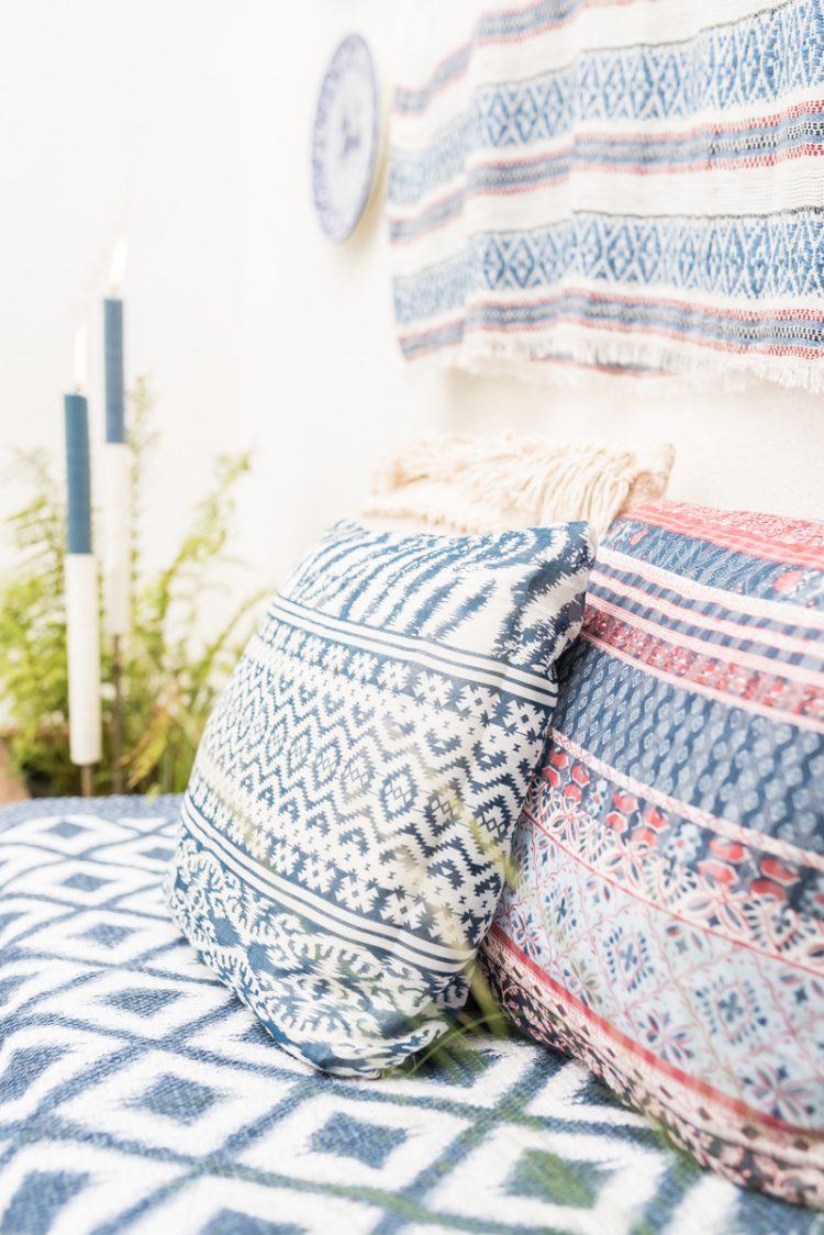 Dekoideen mit Tüchern von DEPOT für dein Garten oder das Wohnzimmer im Sommer