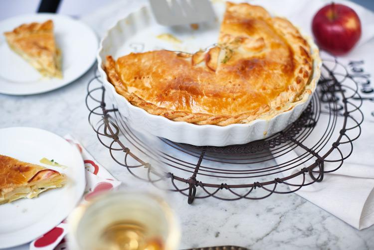 Apfel-Käse-Tarte