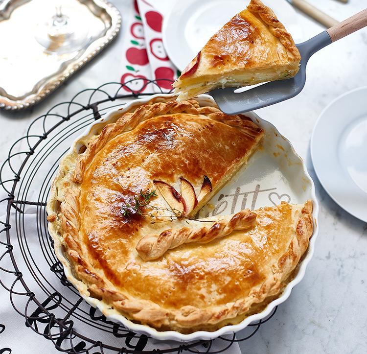 Käse-Apfel-Tarte