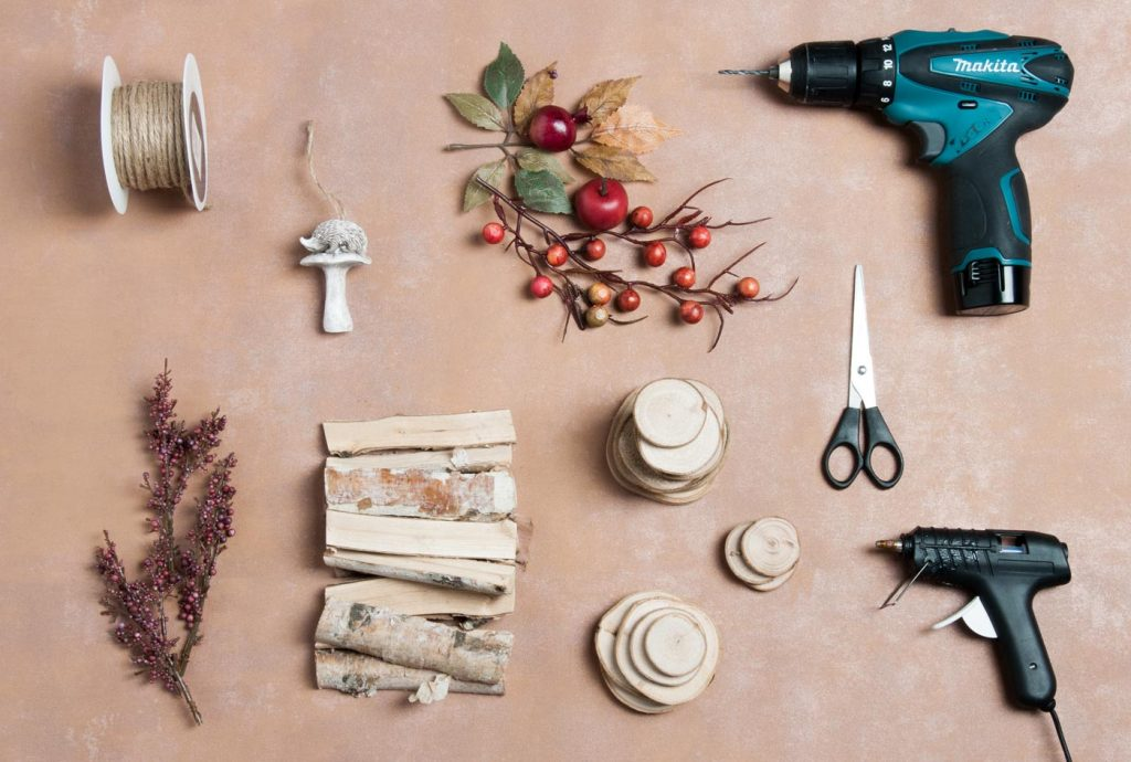 Herbstgirlande DIY Materialien