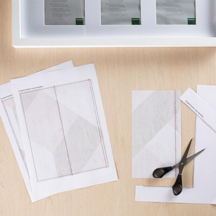 Tablett-Inlays zuschneiden