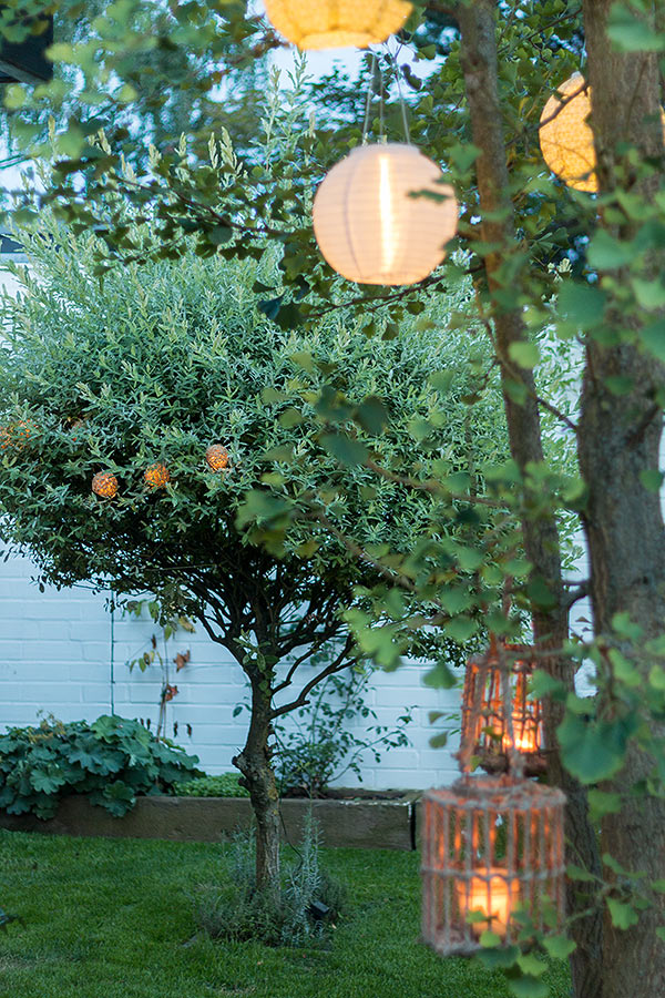 Lampions für eine romantische Gartenstimmung