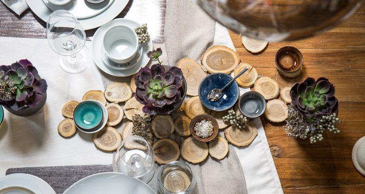 Tischdeko holzscheiben  Untersetzer aus Holzscheiben als DIY Tischdeko