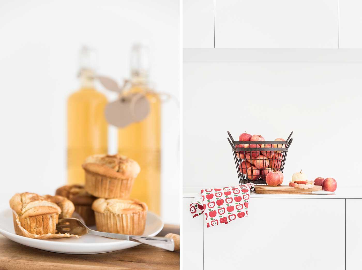 Wir feiern ein Apfelfest mit Apfelmuffins.