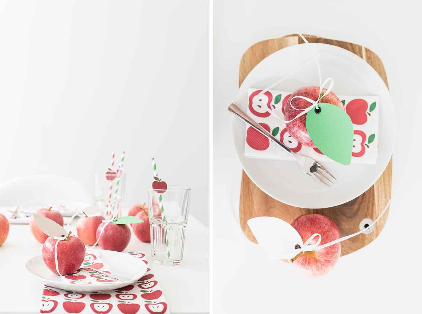Wir feiern ein Apfelfest.