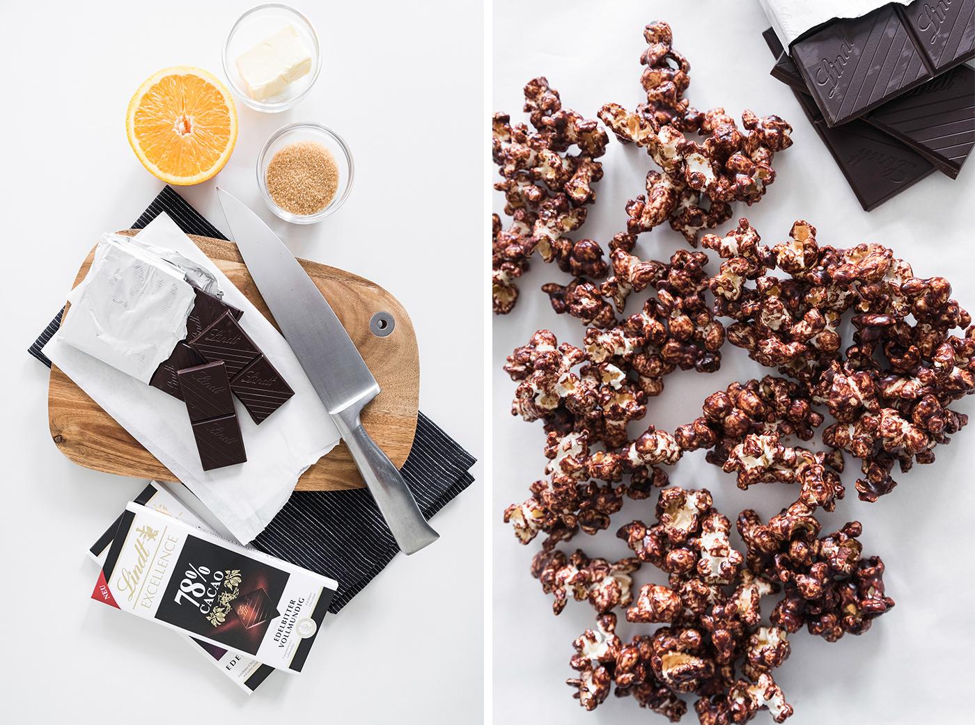 Popcornrezepte - Popcorn mit Schokoladenglasur