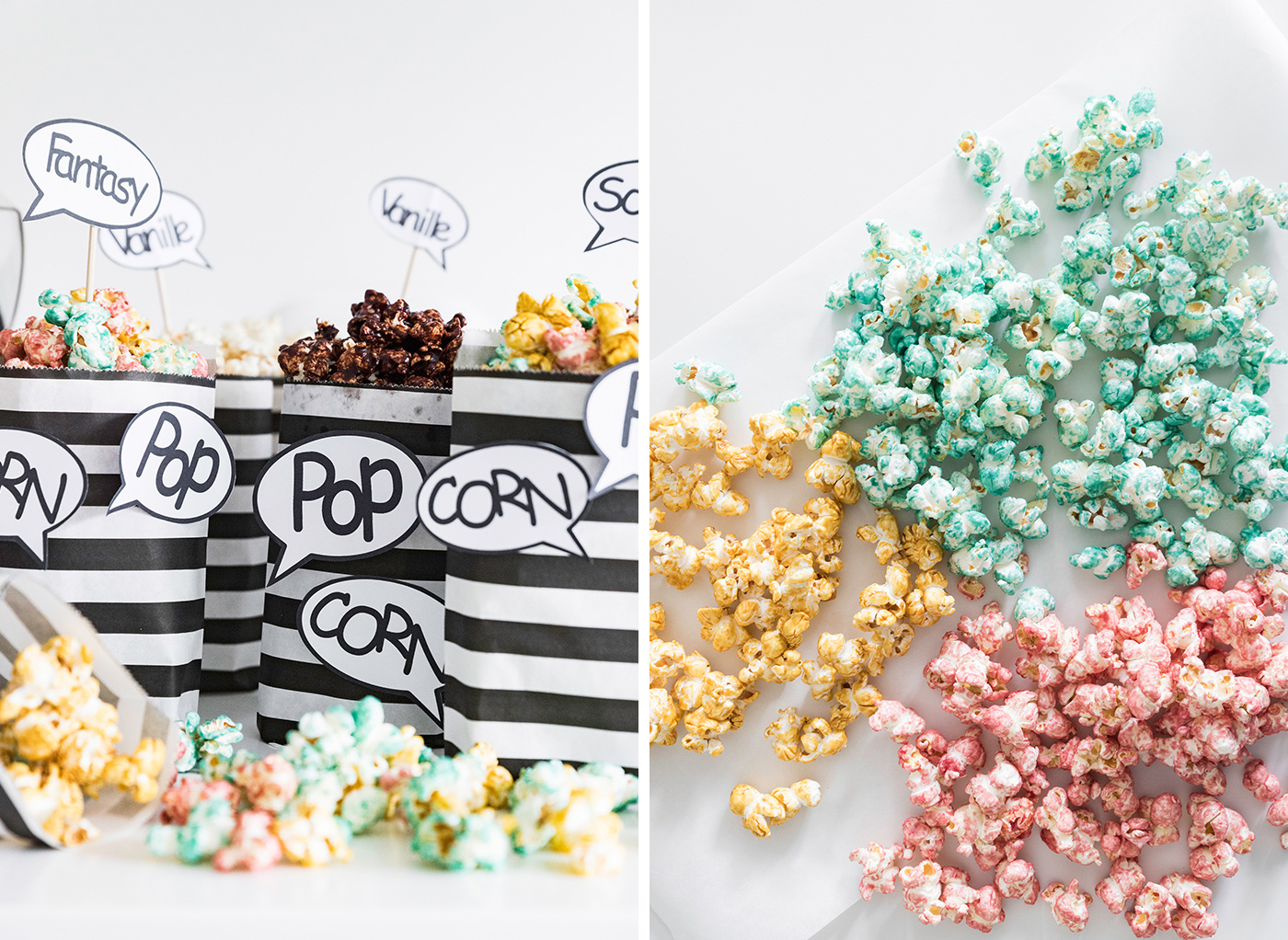 Popcorn selber machen - buntes Popcorn