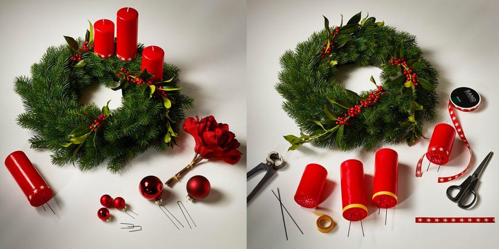 Die unregelmäßige Anordnung der Kerzen lässt auch den Klassiker modern erscheinen.