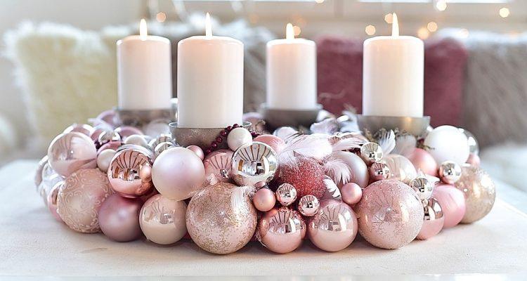 Adventskranz Aus Weihnachtskugeln Selber Machen