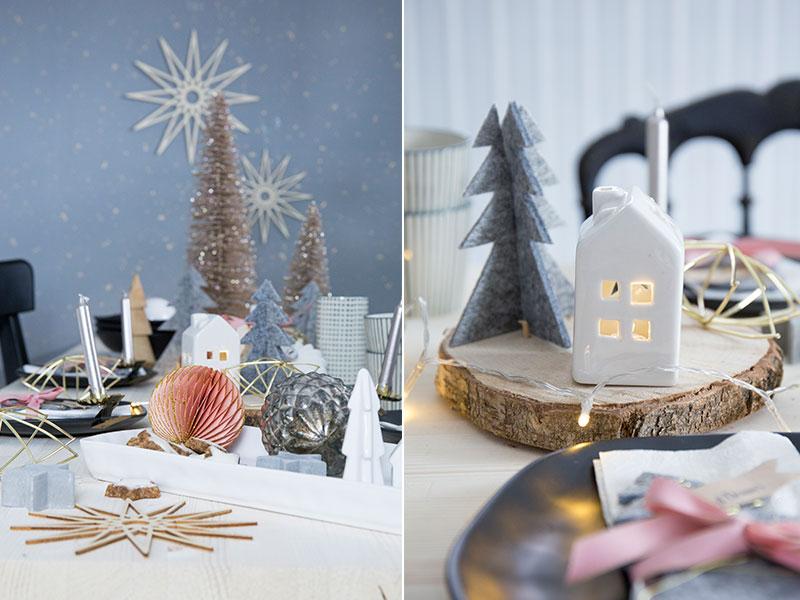 tischdekoration zu nikolaus in grau und rosa. Black Bedroom Furniture Sets. Home Design Ideas