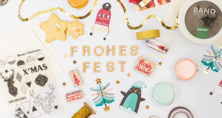 Weihnachtskarten Basteln Glitzernd Oder Im Vintage Look