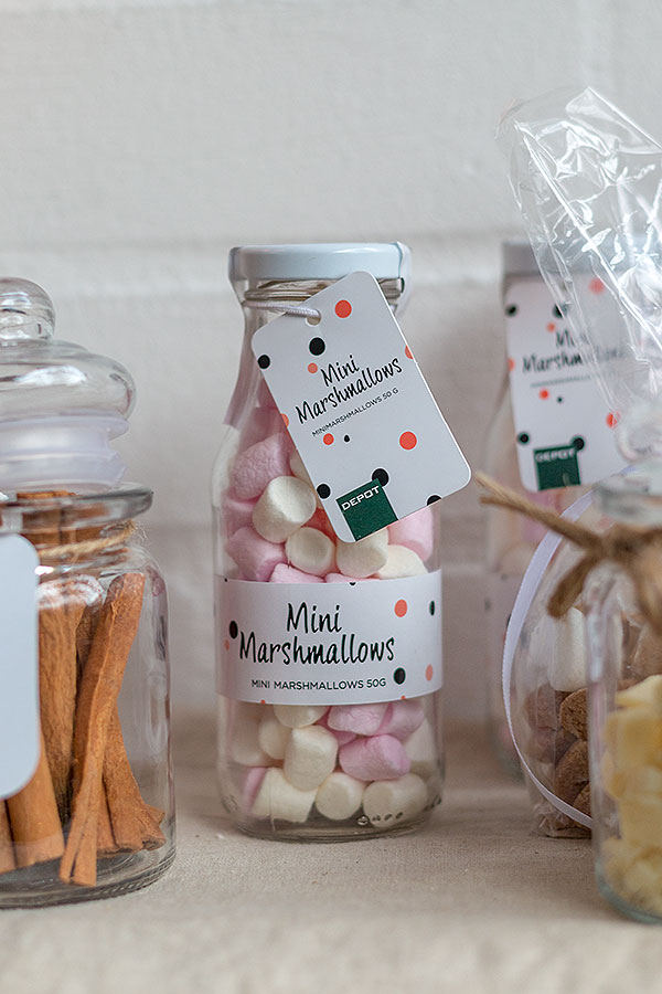 Mini Marshmallows von DEPOT für Hot Chocolate