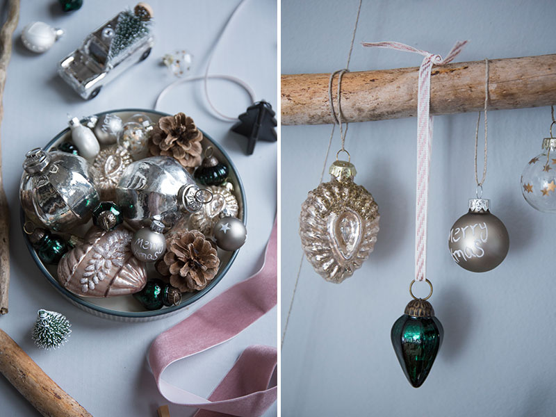 Weihnachtsdekoration-mit-edlen-Baumkugeln