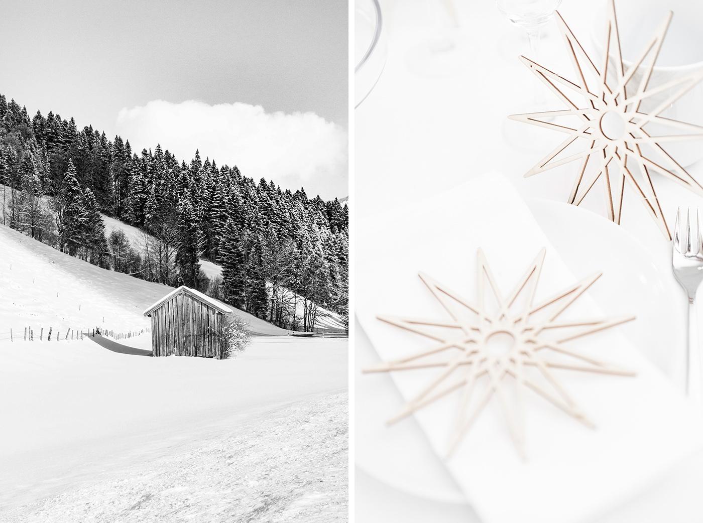 Lagom - weihnachtliche Tischdeko, nordisch schlicht!