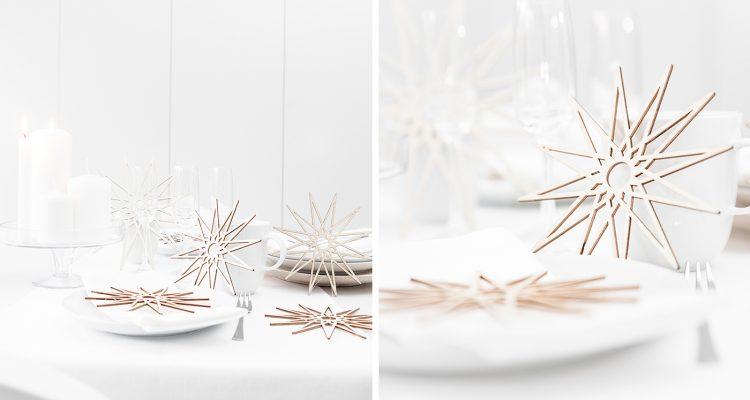 Lagom - weihnachtliche Tischdeko, nordisch clean