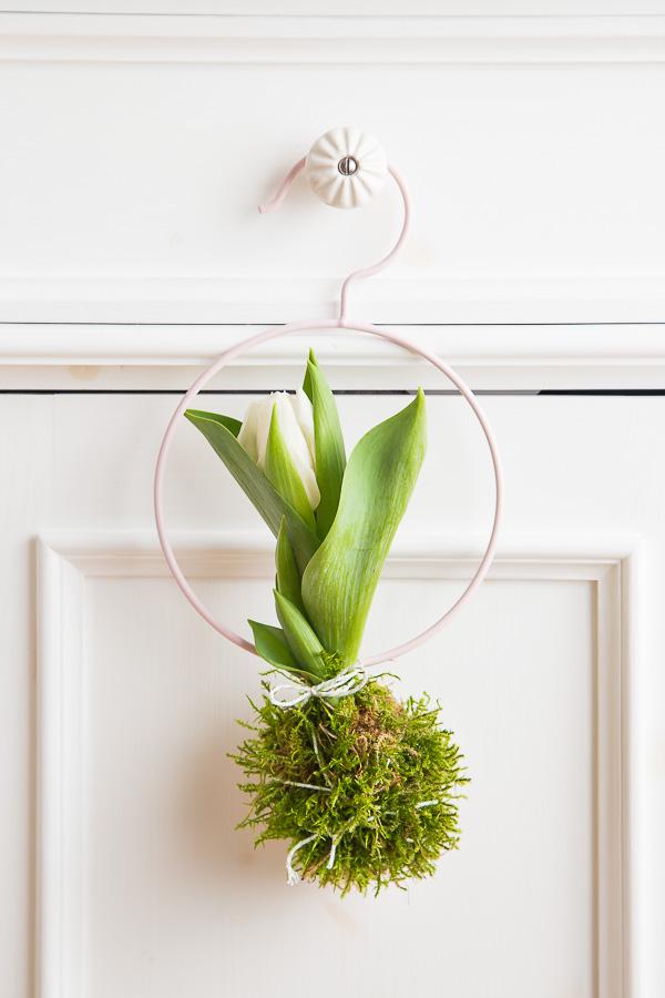 Dekorationsidee mit Tulpen